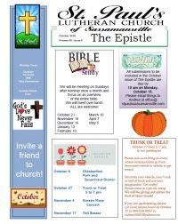 St Pauls October newsletter