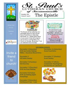St Paul's Newsletter November 2019