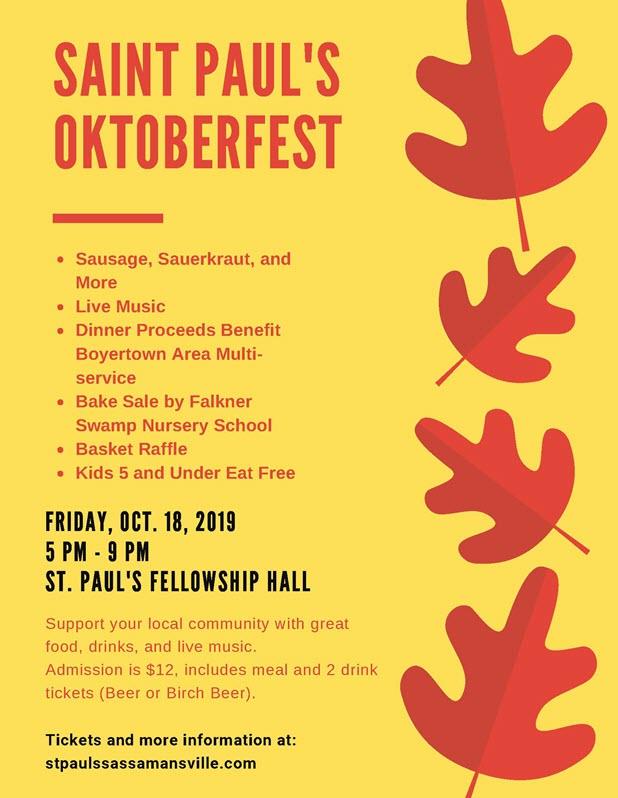 Oktober Fest | St. Paul's Lutheran Church of Sassamansville